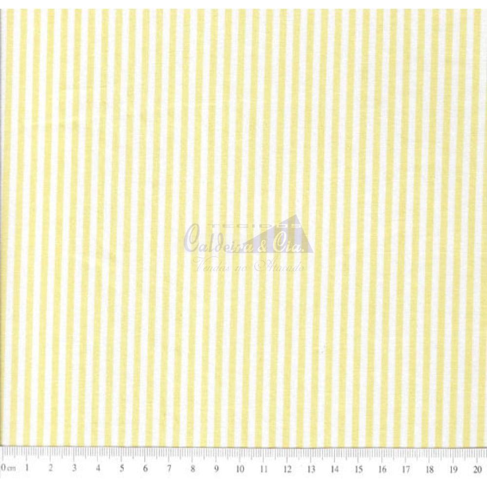 Tecido Tricoline Fio Tinto Listrado L.227 Cor - 1022 (Amarelo)