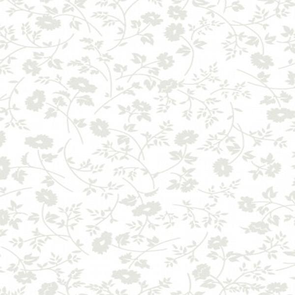 Tecido Tricoline Estampado Floral Branco 41039C-01
