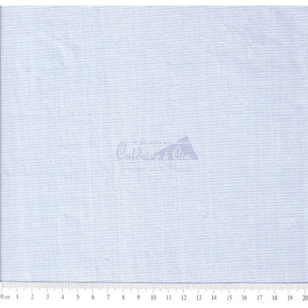 Tecido Tricoline  Fio Tinto Micro Xadrez 0XM cor - 1044 (Azul)