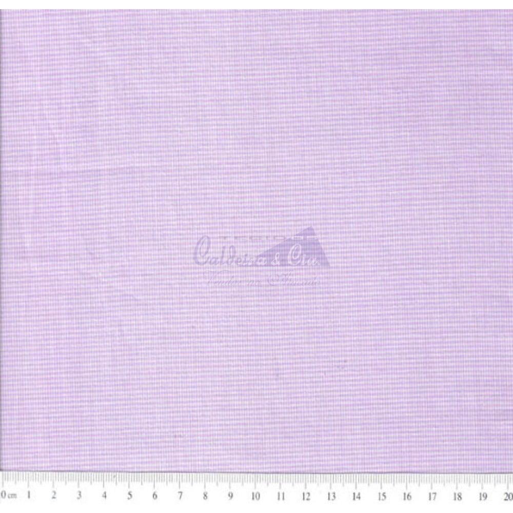 Tecido Tricoline Fio Tinto Micro Xadrez 0XM Cor - 1063 (Lilás)