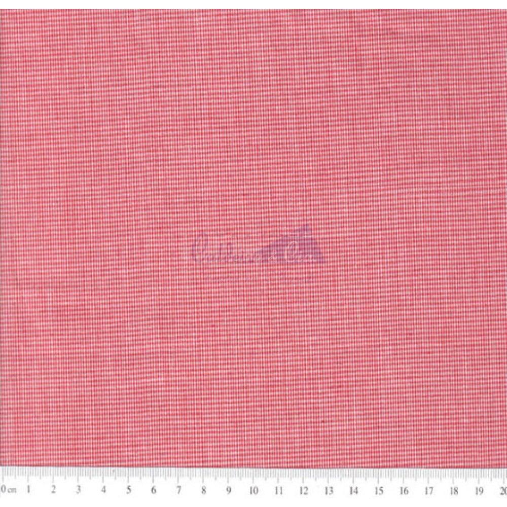 Tecido Tricoline Fio Tinto Micro Xadrez 0XM Cor - 1066 (Vermelho)