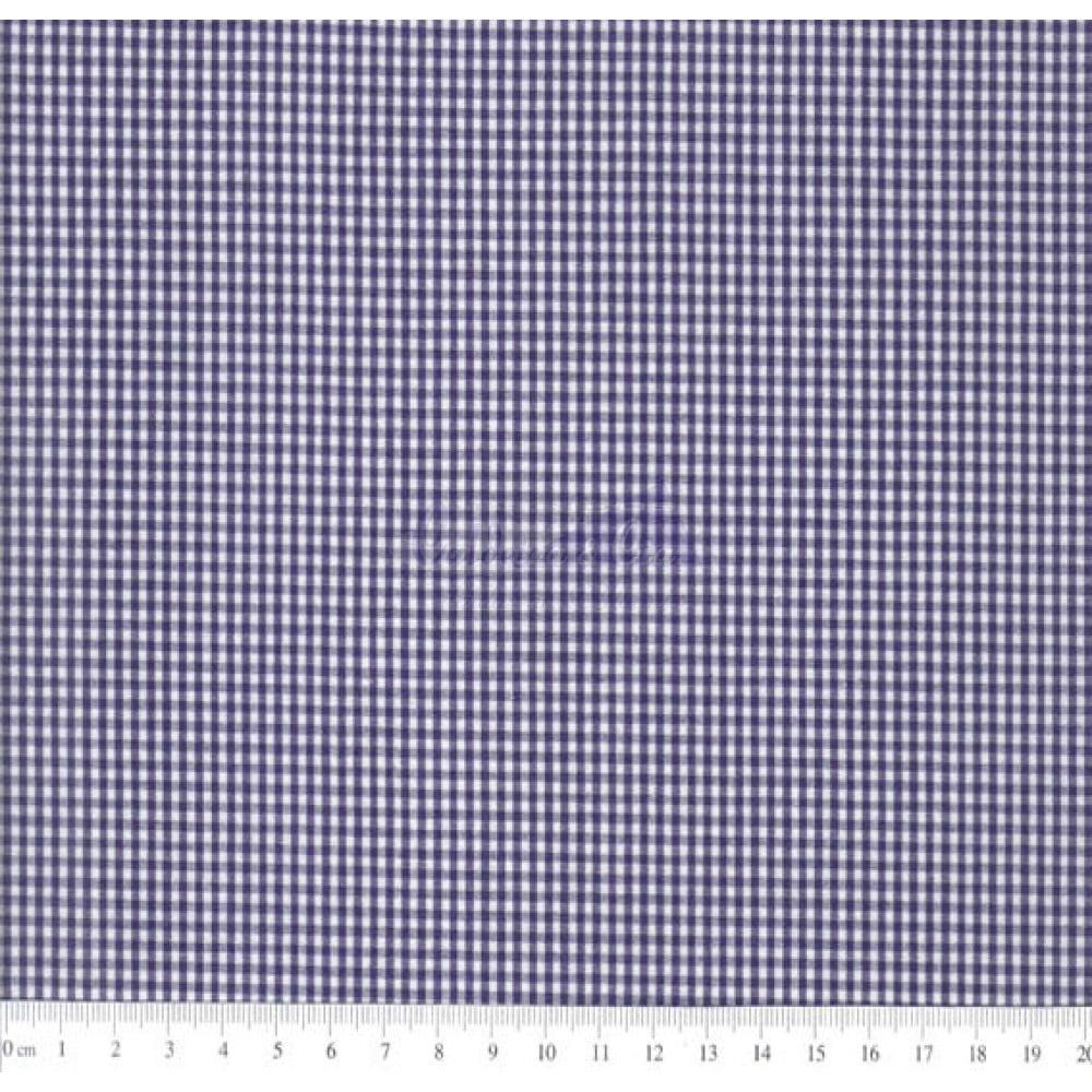 Tecido Tricoline  Fio Tinto Xadrez 1XM Cor - 1041-01 (Marinho)