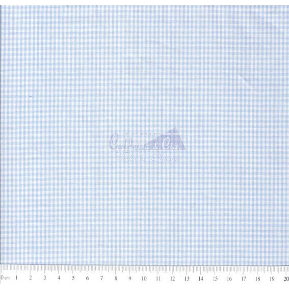 Tecido Tricoline Fio Tinto Xadrez 1XM Cor -1044-03 (Azul)