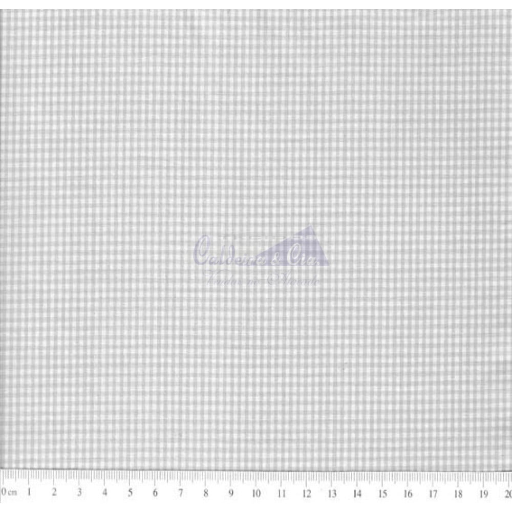 Tecido Tricoline Fio Tinto Xadrez 1XM Cor -1074-09 (Cinza)