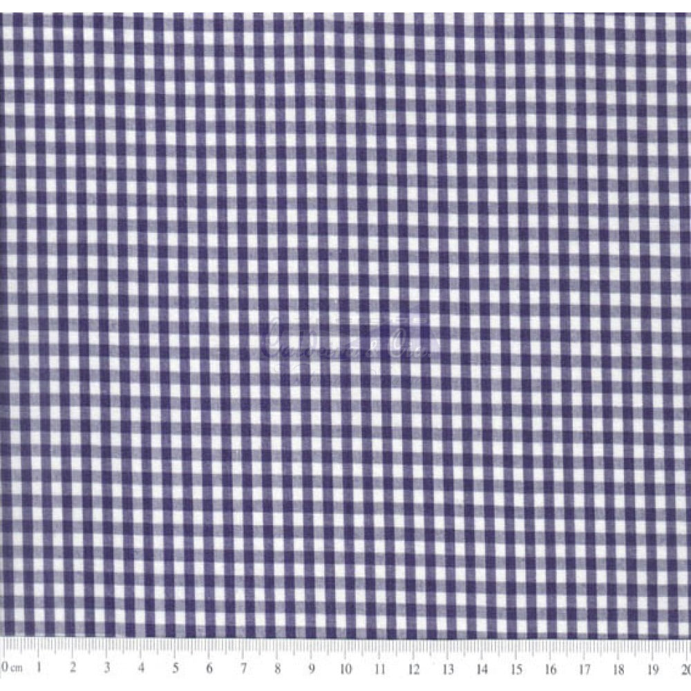 Tecido Tricoline Fio Tinto Xadrez 8XM Cor - 1041-11 (Marinho)