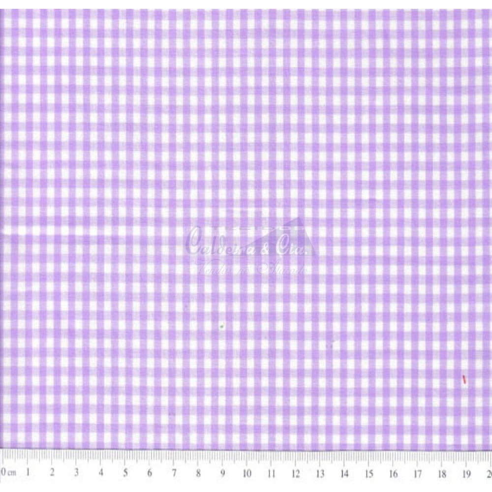 Tecido Tricoline Fio Tinto Xadrez 8XM Cor - 1063-17 (Lilás)