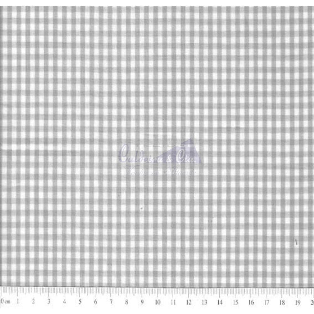 Tecido Tricoline Fio Tinto Xadrez 8XM Cor - 1074-19 (Cinza)