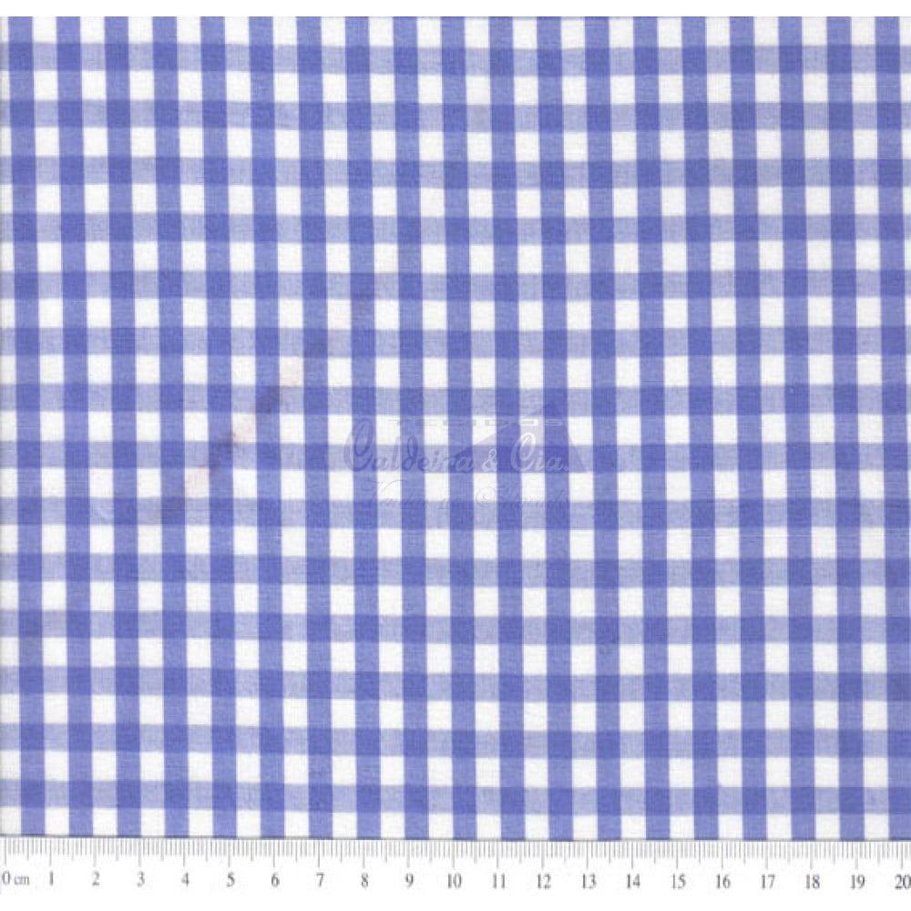 Tecido Tricoline Fio Tinto Xadrez 9XM Cor - 1045-23 (Royal)